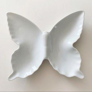 Otagiri Mid Modern OMC White Butterfly Plate